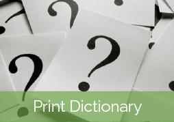 print dictionary of terms